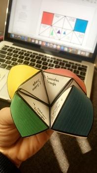 Math Vocabulary Triangle Cootie Catcher