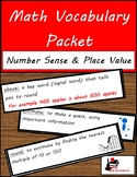 Math Vocabulary Unit - Number Sense and Place Value