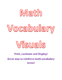Math Vocabulary Visuals