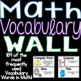 Math Vocabulary Word Wall #summerstockup