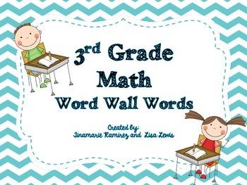 {Freebie} Math Vocabulary Word Cards