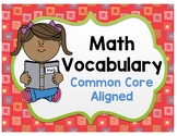 Math Vocabulary Word Cards