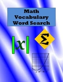 Math Vocabulary Word Search