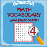 Fourth Grade Math Word Search Pack