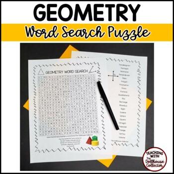 Math Vocabulary Word Search - GEOMETRY