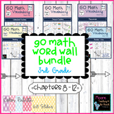 Math Vocabulary Word Wall BUNDLE Chapters 8 - 12, Grade 3