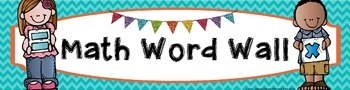 Math Word Wall Banner - Chevron