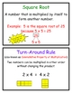 Math Vocabulary Word Wall Cards, Group 1, Everyday Mathematics