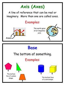 Math Vocabulary Word Wall Cards, Group 7 and 8, Everyday Mathematics
