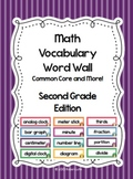 Math Word Wall - Second Grade