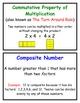 Math Vocabulary Word Wall, Everyday Mathematics, Printable Resource