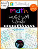 4th Grade Math Vocabulary Word Wall I-Ready, Volume 1