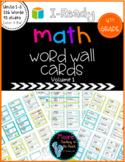 I-Ready Math Vocabulary Word Wall, 4th Grade Volume 1