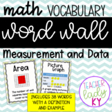 Math Vocabulary Word Wall *Measurement and Data*