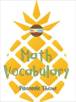 Math Vocabulary Word Wall – Pineapple