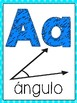 Math Vocabulary Word Wall Posters (Spanish)