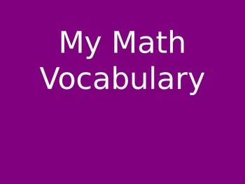 Math Vocabulary Word Wall Powerpoint