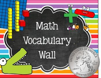 Math Vocabulary Word Wall Sign