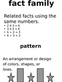 Math Vocabulary Word Wall - Patterns and Statistics