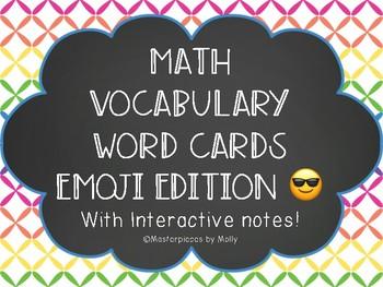Math Vocabulary Words