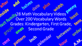 200+ Math Instructional Vocabulary Words - Grades K - 2 (28 Videos)