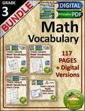 Math Vocabulary Bundle 3rd Grade
