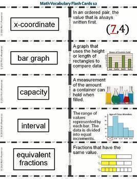 Math Vocabulary Words and Activities Bundle Grade 6 - Test Prep
