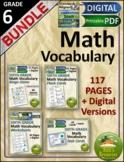 Math Vocabulary Bundle 6th Grade