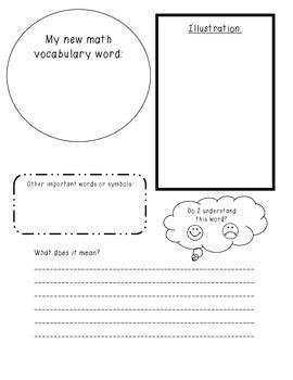 Math Vocabulary Worksheet