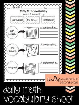 Math Vocabulary Worksheet