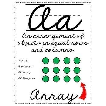 Math Vocabulary and Alphabet Line