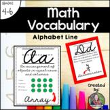 Cursive Math Vocabulary and Alphabet Line for Upper Elementary