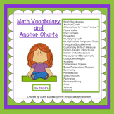Math Vocabulary and Anchor Charts