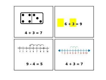 Math Vocabulary and Picture Cards: Unit 1