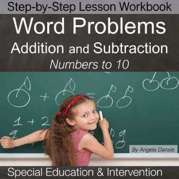 Word Problems and Vocabulary,  First Grade Math  {Intervention, Special Ed}
