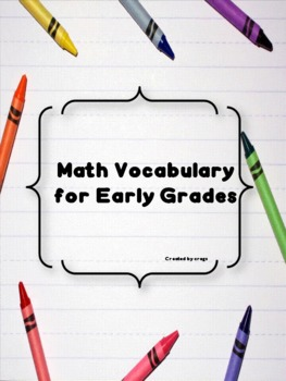 Math Vocabulary for Early Grades