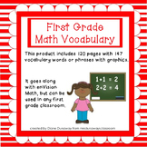 Math Vocabulary for First Grade (entire year bundled)