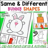 Same and Different Bunny Shapes: Basic Concepts Activities