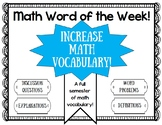 Math Vocabulary- math word of the week