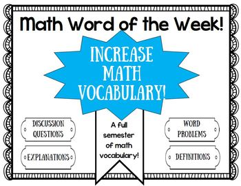 Math Vocabulary- math word of the week