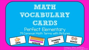 Math Vocabulary/Word Wall Cards