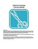 Math: Volume Formulas Cut-out Activity Matching Game (Geometry, Measurement)