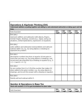 Math WV NxG Standards Checklist
