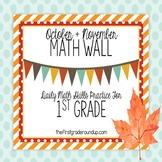 Calendar Math Wall October & November (1st Grade)