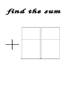 Math Wall 2 Digit Addition Poster