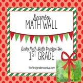 Calendar Math Wall for December (1st Grade)