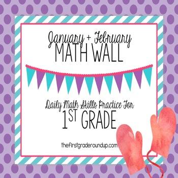 Calendar Math Wall for January and February (1st Grade)