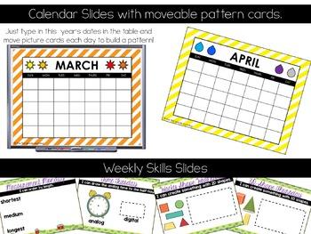 Calendar Math Wall for March & April (1st Grade)
