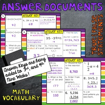 Math Wall 5th Grade Bundle