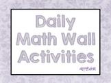 Math Wall Activities